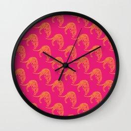 Wild Leopard Print Wall Clock