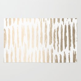 White Gold Sands Vertical Dash Rug