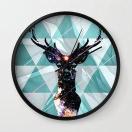 Majestic Space Deer Wall Clock