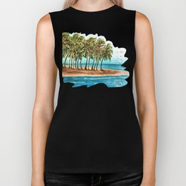Private Island Painting Biker Tank