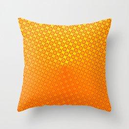d20 Fire Red Critical Hit Pattern Throw Pillow