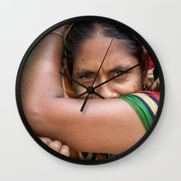 Colors of hidden smile Wall Clock
