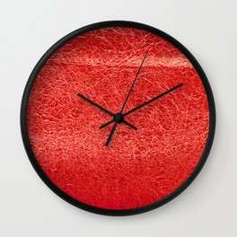 Crinkled Bold Red Foil Texture Christmas/ Holiday Wall Clock