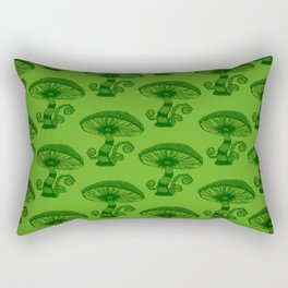 """Mushrooms in the Garden"" Wonderland Style Design by Dark Decors Rectangular Pillow"