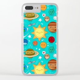 Planet party Clear iPhone Case