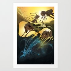 Mermaids are Scary Art Print