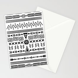 Tribal Pattern - Black & White Stationery Cards