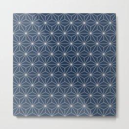Geometric Stars pattern blue Metal Print