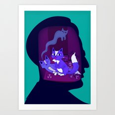 schrodinger's cat Art Print