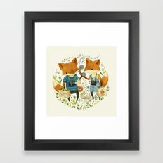 Fox Friends Framed Art Print