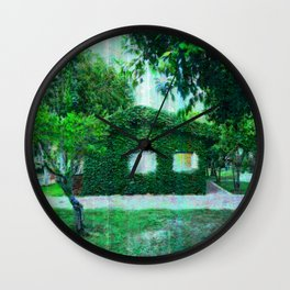 Green Heaven by Lika Ramati Wall Clock