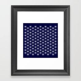 Hedgehog Polka Dot Framed Art Print