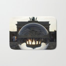 Brandenburg Gate, Berlin Germany / Glass Ball Photography Bath Mat