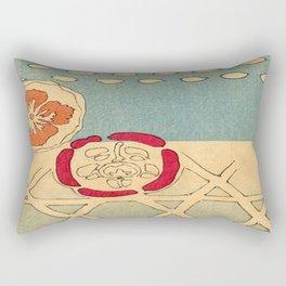 Antique Japanese fabric Swatch Rectangular Pillow