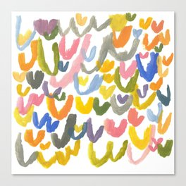 Abstract Letterforms 1 Canvas Print