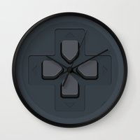 playstation Wall Clocks featuring PlayStation - D-Pad by dudsbessa