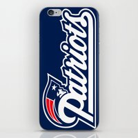 patriots iPhone & iPod Skins featuring Patriots Logo  by Happy Positivity