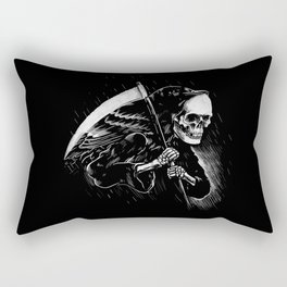 DEATH WILL HAVE HIS DAY Rectangular Pillow
