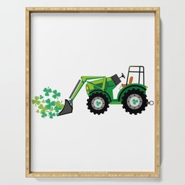 St. Patrick's Day Shamrocks Tow Truck For Boy Kids Serving Tray