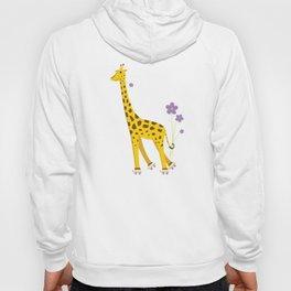 Funny Giraffe Roller Skating Hoody