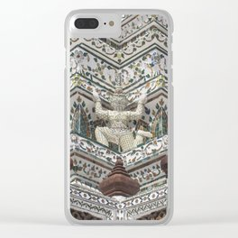 Details of Wat Arun (Temple of Dawn) in Bangkok Clear iPhone Case