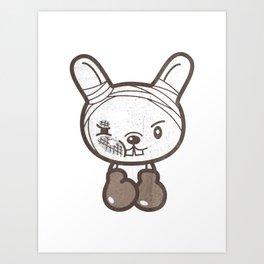 Boxing Bunny Art Print