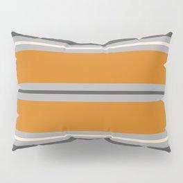 Minimal Abstract Vintage Cream Orange Grey 01 Pillow Sham