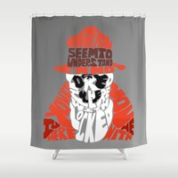 rorschach Shower Curtains featuring Rorschach by Rebecca McGoran