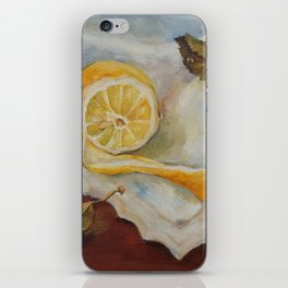 Still life with Lemon Oil painting on canvas Yellow Cirtus Fruit Home decor iPhone Skin