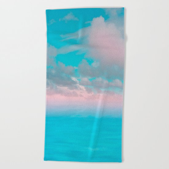 The Sea is Calm 03 Beach Towel