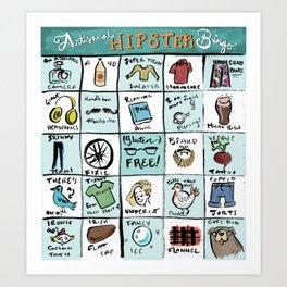 Hipster Bingo! Art Print