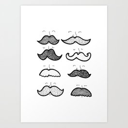 Moustache Men Art Print