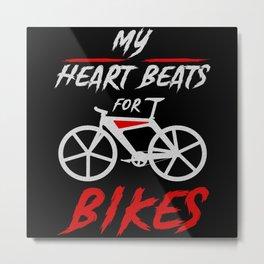 My Heart Beats For The Bike Sport Metal Print