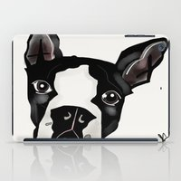 boston terrier iPad Cases featuring Boston Terrier by transFIGure