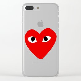 Comme des garcons - play Clear iPhone Case