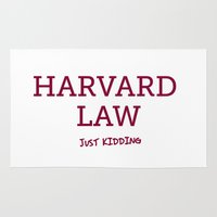 law Area & Throw Rugs featuring Harvard Law by Trend
