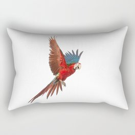 Flying green-winged Macaw Rectangular Pillow