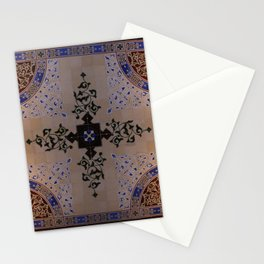 Ornamental Tiled Ceiling Geometric Pattern Stationery Cards