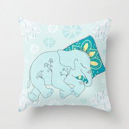 sweet elephant dreams Throw Pillow