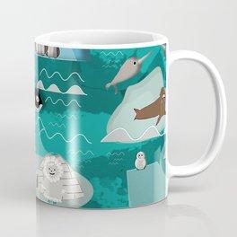 Arctic animals teal Coffee Mug