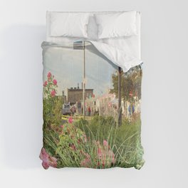 The Spring Flowers in Coney Island Comforters