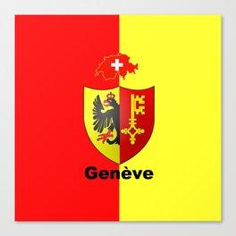 Geneve City of Zwitzerland Canvas Print