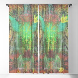 The Cooling Spirit of Autumn Sheer Curtain
