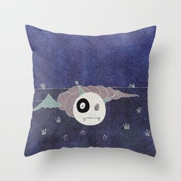 Toothworm by night Throw Pillow