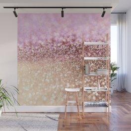 Mermaid Rose Gold Blush Glitter Wall Mural