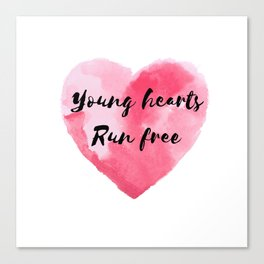 Young Hearts Run Free Canvas Print