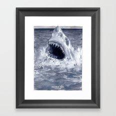 Shark Attacks! ( by Luca Conca for Passenger Press) Framed Art Print
