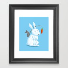 Bunny Rider Framed Art Print