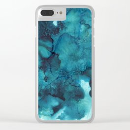 Blue Dream Clear iPhone Case