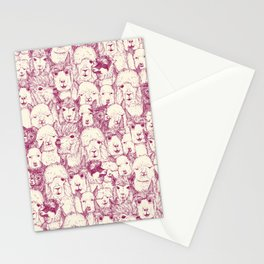 just alpacas cherry pearl Stationery Cards